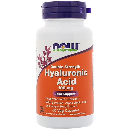 NOW -Hyaluronic Acid 100мг 60 капс