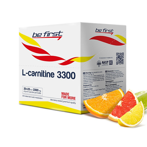 Be First-L-carnitine 3300 20 ампул - цитрусовый микс