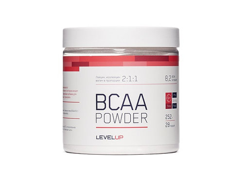 LevelUp-BCAA Powder 252 г - гуарана
