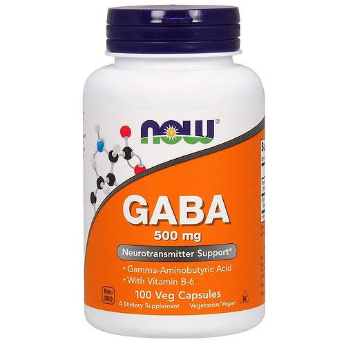 NOW -GABA 500 мг 100 растительных капсул