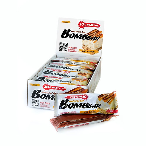 BOMBBAR-Батончик Bombbar 20*60 г - солёная карамель