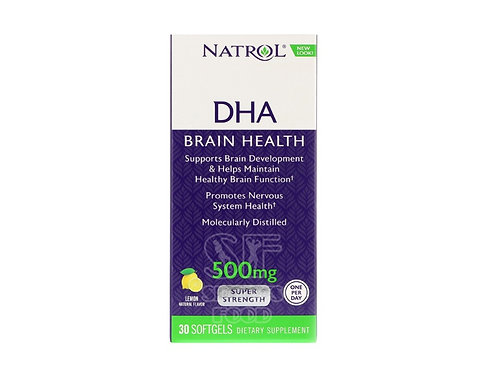 Natrol-DHA 500 мг Super Strength 30 капс