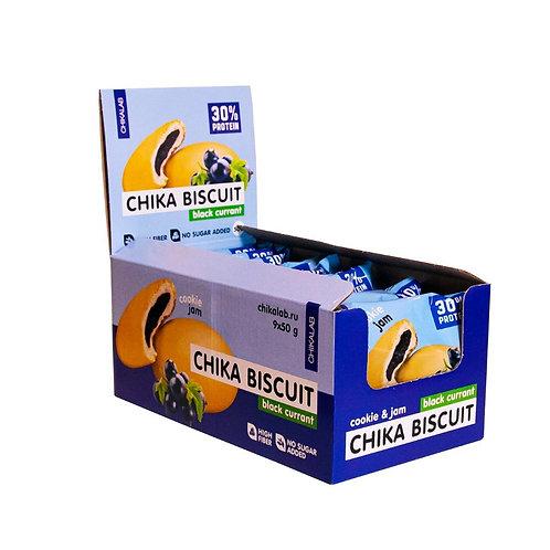 CHIKALAB-Печенье неглазированное с начинкой 9*50 гр - бисквит чёрная смородина