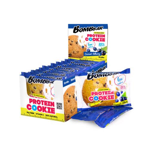 BOMBBAR-Печенье неглазированное Bombbar 12*40 гр. - смородина-черника