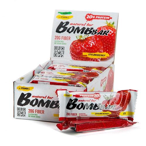 BOMBBAR-Батончик Bombbar 20*60 г - клубника