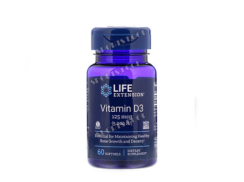 LIFE extension-Vitamin D3 125 мкг 5000 IU 60 капс