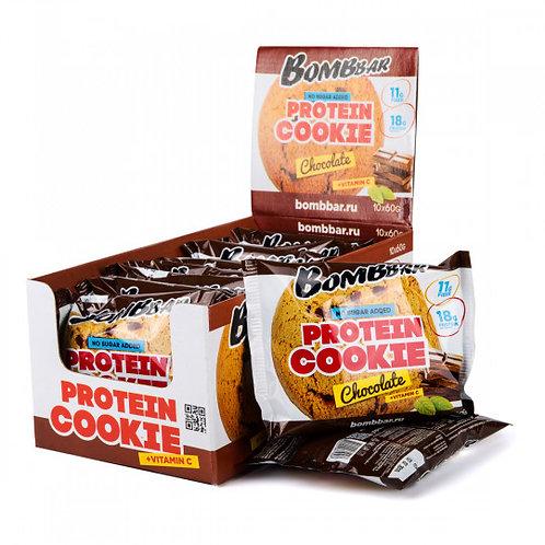 BOMBBAR-Печенье неглазированное Bombbar 10*60 гр. - шоколад