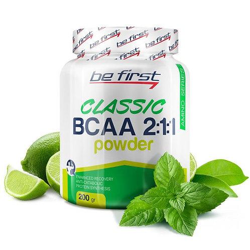 Be First-BCAA 2:1:1 CLASSIC powder 200 гр - мята-лайм