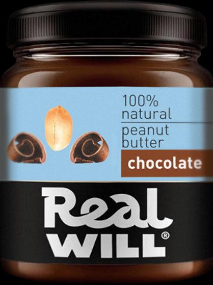 Real WILL-Арахисовая паста шоколадная 0,5кг