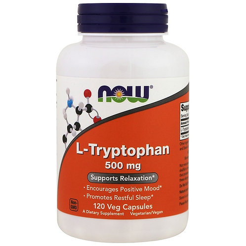 NOW -L-Tryptophan 500 мг 120 капс