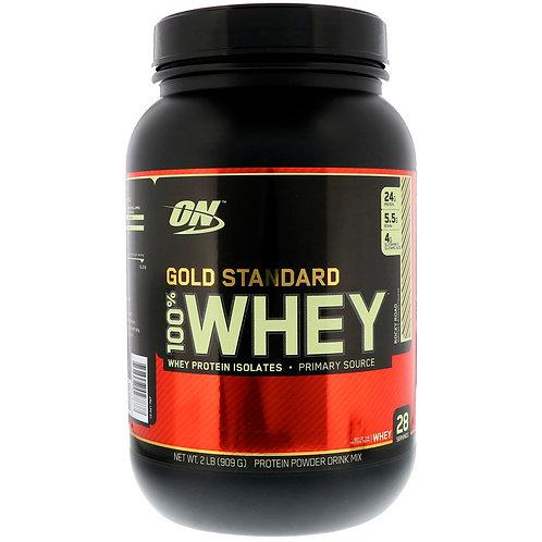 Optimum Nutrition-100% Whey Gold Standard 907 гр - шоколад-миндаль-маршмелоу