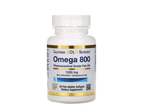 California gold nutriton-Omega 800 1000 мг 30 капс