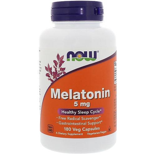 NOW-Melatonin 5 mg 180 Vcaps