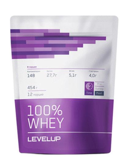 LevelUp-100% Whey 454 г - клубника