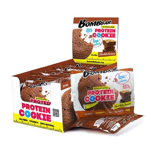 BOMBBAR-Печенье неглазированное Bombbar 12*40 гр. - шоколадный брауни