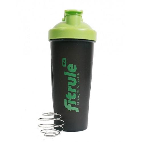 FitRule-шейкер классический - черный+зеленая крышка