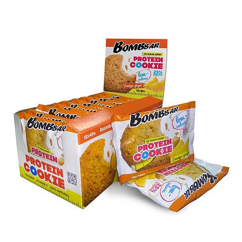 BOMBBAR-Печенье неглазированное Bombbar 12*40 гр. - апельсин-имбирь