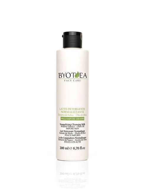 Очищающее молочко для проблемной кожи с экстрактом Ивы и маслом Оливы: 200 мл.
