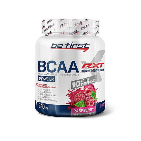 Be First-BCAA RXT powder 230 гр - малина