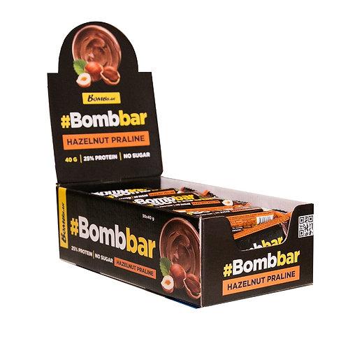 BOMBBAR-Батончик глазированный 30*40 гр - фундучное пралине