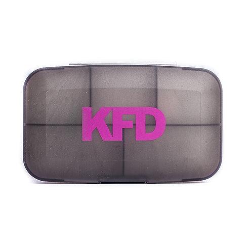 KFD-Кейс для капсул - серый с розовым
