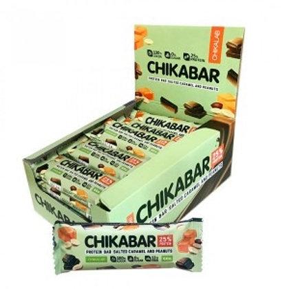 CHIKALAB-Батончик глазированный с начинкой 20*60 гр.- арахис