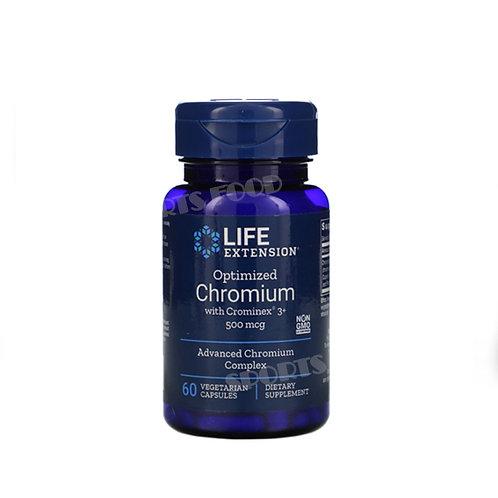 LIFE extension-Chromium with Chrominex 500 мг 60вег касп