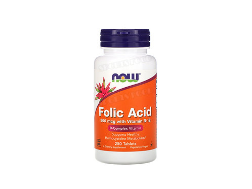 NOW-Folic Acid 800 мкг c B-12