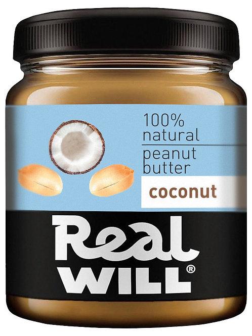 Real WILL-Арахисовая паста с кокосом 0,3кг