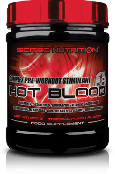 Scitec-Hot Blood 3.0 300 гр - апельсин