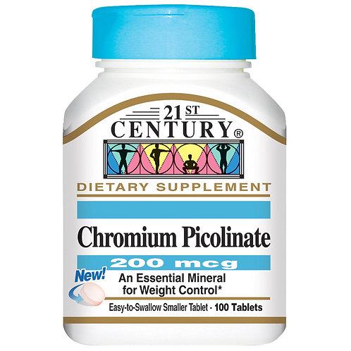 21 Century-Chromium Picolinate 200 mg 100 таб
