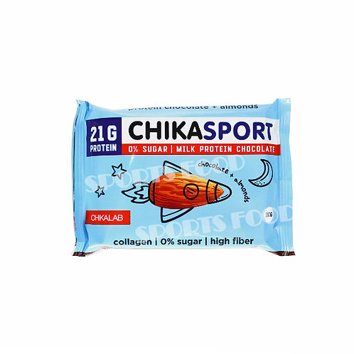 CHIKALAB-Шоколад молочный с миндалем 100 гр