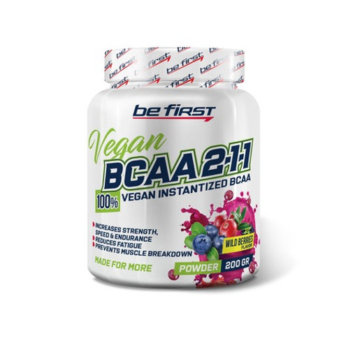 Be First-BCAA 2:1:1 VEGAN instantized powder 200 гр - лесные ягоды