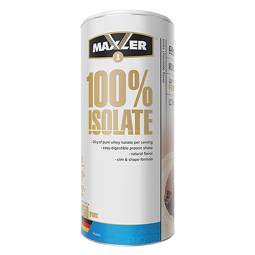 Maxler-100% Isolate 450 гр (карт. банка) - швейцарский шоколад