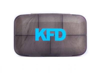 KFD-Кейс для капсул - серый с синим