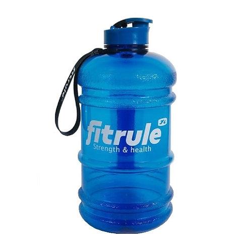 FitRule-Бутыль FitRule прорезиненная металлическая крышка 2.2L - синяя