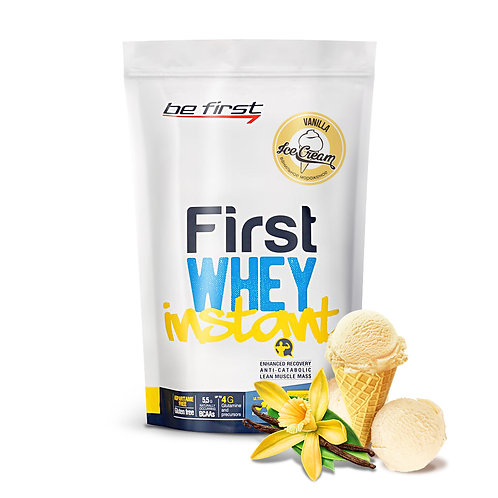 Be First-Whey instant 900 гр -  ванильное мороженое