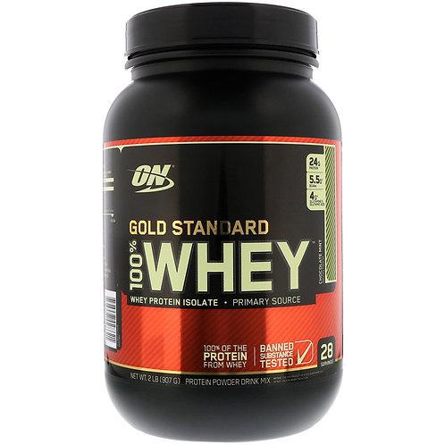Optimum Nutrition-100% Whey Gold Standard 907 гр - шоколад-мята