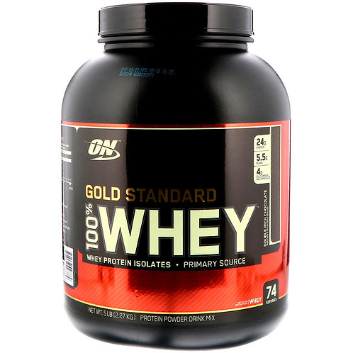 Optimum Nutrition-100% Whey Gold Standard 2270 гр - двойной шоколад