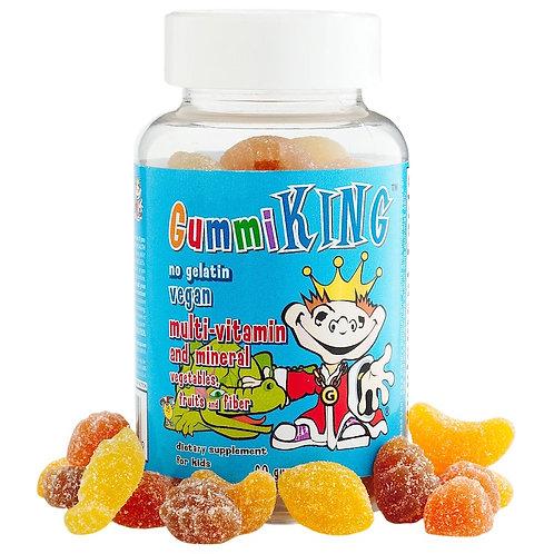 Gummi King-Мультивитамины и минералы для детей с овощами 60 жеват. мармеладок