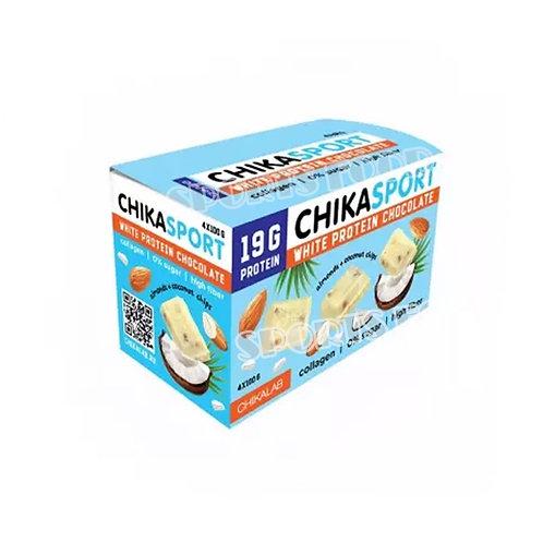 CHIKALAB-Шоколад белый с миндалем и кокосовыми чипсами 100 гр