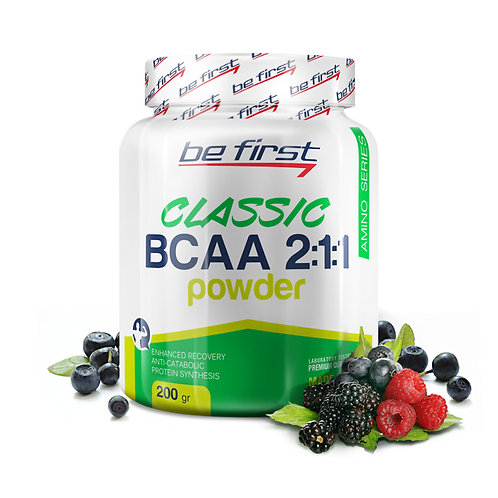 Be First-BCAA 2:1:1 CLASSIC powder 200 гр - малина