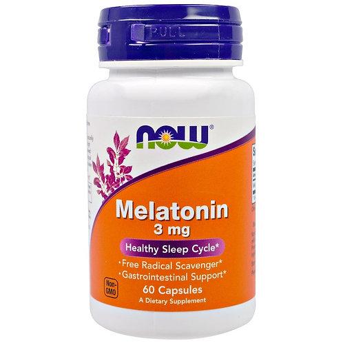 NOW-Melatonin 3 mg 180 Vcaps