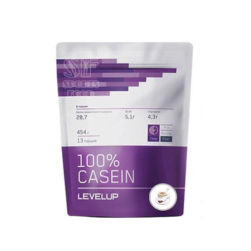 LevelUp-100% Casein 454 г - капучино