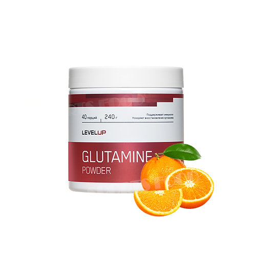 LevelUp-Glutamine Powder 240 г - апельсин