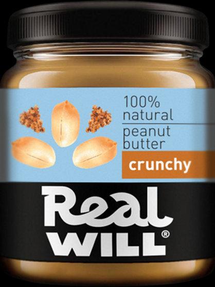 Real WILL-Арахисовая паста кранчи 0,3кг