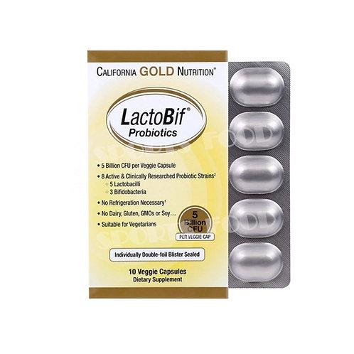 California GOLD Nutrition-LactoBif Probiotcs 10 вег капс