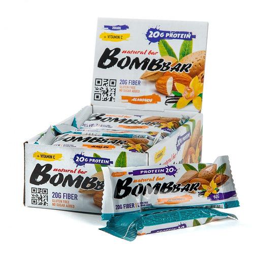 BOMBBAR-Батончик Bombbar 20*60 г - миндаль