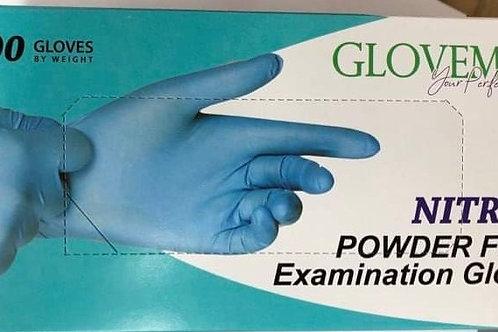Blue Nitrile Gloves - Powder Free