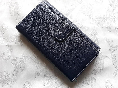 Long Purse Italian Leather (Navy-1)